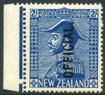 1928 2/- Blue Admiral O/P Official MLH well centered marginal copy. Sg 0112.