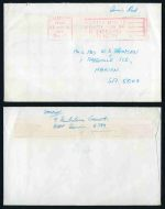1975 Cyclone Tracy concession Airmail cover with Paid slogan postmark in red. Fine condition.