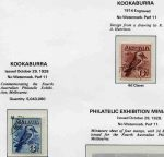 Collection of MUH, MLH and FU Pre-Decimal stamps from 1914 to 1965 in Seven Seas Hingeless album. Includes 1914 6d Claret Kooka CTO, 1927-30 1½d Canberra, 3d Kooka, 3d Airmail Type A, 1½d WA Centenary and Sturt set perforated OS CTO, 1931 2d and 3d Kingsford Smith O/P OS CTO, 1931 6d Brown Airmail O/P OS MUH, 1932 1/- Lyrebird O/P OS CTO, 1934 1/- Perf 10½ Vic Centenary MLH, 1934 9d Macarthur MLH, 1935 Anzac set MLH, 1935 2/- Silver Jubilee MUH, 1938-49 £1 Thick and Thin Paper Robe FU, 1946 BCOF set MLH, 1950 £2 Arms O/P Specimen MUH, 1963-64 Navigator set of 6 MUH and 1964 10/- and £1 Cream Paper Navigators O/P Specimen MUH. Generally fine condition with odd minor fault. High retail value.