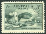 1932 5/- Green Sydney Harbour Bridge CTO with gum and well centered.