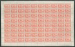 1932 2d Carmine-Red Engraved Sydney Harbour Bridge Plate two dot right side sheet of 80 MUH and well centered. Several units with light creasing, not affecting Plate block. Scarce. ACSC 146zb.