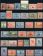 Collection of 249 different mint Pre-Decimal issues from 1914 to 1965 including 1914 6d Claret Kooka, 1931 6d Brown Airmail, 1932 1/- Lyrebird, 1934 1/- Perf 11½ Vic Centenary, 1934 Macarthur set, 1935 1/- Anzac FU, 1935 2/- Silver Jubilee FU, 1936 SA Centenary set, 1937 NSW Sesqui set, 1938 Thick Paper Robe set, 1940 AIF set, 1961 5/- Cream Paper Cattle and 1963-64 Navigator set of 6. Generally fine condition with some minor faults and several issues MUH. High retail value.