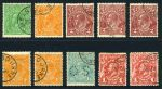 1915-24 ½d Green, ½d Orange, 2d Brown (3), 4d Orange (2) and 1/4 Blue Perf OS Single Wmk KGV, plus 1913 1d Red Engraved KGV (2) all with Melbourne or G.P.O. Melbourne CTO postmark with gum. Several copies hinged and one 1d Red Engraved without gum.