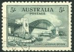 1932 5/- Sydney Harbour Bridge CTO without gum and well centered.