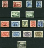 1914 6d Claret Kooka, 1927-30 1½d Canberra, 3d Kooka, 3d Airmail Type B and Sturt set perforated OS, 1928 3d Kooka, 1929 3d Airmail Type A, 1931 Kingsford Smith set, 1931 2d and 3d Kingsford Smith O/P OS, 1931 6d Brown Airmail, 1932 1/- Lyrebird O/P OS and 1934 1/- Perf 10½ Vic Centenary, all with G.P.O. Melbourne CTO postmark with gum. Mainly hinged, the 3d Sturt without gum. Odd shortish perf.