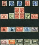 Selection of 54 Pre-Decimal issues from 1914 to 1965, all with G.P.O. Melbourne CTO postmark including 1914 6d Claret Kooka, 1928 3d Kooka perf OS (2), 1930 Sturt set, plus 1½d block of 4 perf OS, 1931 2d and 3d Kingsford Smith O/P OS, 1932 1/- Lyrebird O/P OS and 1934 1/- Perf 10½ Vic Centenary (3). Mainly with gum and odd fault.