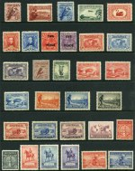 Collection of mint Pre-Decimal stamps from 1914 to 1965 including 1914 6d Claret Kooka, 1932 1/- Lyrebird, 1934 Perf 10½ Vic Centenary set, 1934 Macarthur set, 1935 Anzac set, 1935 Silver Jubilee set, 1936 SA Centenary set, 1937 NSW Sesqui set, 1937 3d Blue Die I White Wattles KGVI, 1938 Thick Paper Robe set and 1949-50 Arms set. Odd minor fault. QEII period mainly MUH. Also small range of used Decimal issues and miscellaneous items.