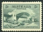 1932 5/- Green Sydney Harbour Bridge MUH and centered slightly to left.