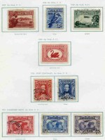 Collection of good to fine used Pre-Decimal issues from 1914 to 1965 including 1914 6d Claret Kooka, 1931 2d and 3d Kingsford Smith O/P OS CTO, 1931 6d Airmail O/P OS, 1932 1/- Lyrebird O/P OS CTO, 1932 5/- Sydney Harbour Bridge VFU (tiny thin), 1935 Silver Jubilee set, 1938 Thick Paper Robe set, 1949-50 Arms set and 1963-64 Navigator set in loose leaf album. Odd minor fault.