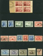 Collection of hundreds of used Pre-Decimal stamps from 1927 to 1965 including handy items and some duplication. Noted 1928 3d Kooka perf OS, 1929 3d Airmail Type B perf OS, 1931 6d Airmail O/P OS, 1932 1/- Lyrebird O/P OS, 1932 5/- Sydney Harbour Bridge CTO and well centered with few shortish perfs, 1934 Perf 10½ Vic Centenary set, 1934 Macarthur set, 1935 Silver Jubilee set, 1935 Anzac set, 1937 2d NSW Sesqui with Man with tail variety, 1938 2d Scarlet Die II KGVI with