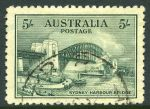 1932 5/- Green Sydney Harbour Bridge fine used and reasonably well centered. An attractive commercially used example.