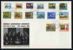 1966 Independence set (3, 2 excluding 5/- on 1/3), 1966 Definitive set (4) and 1970  Definitive set (2) on official FDC's. (9 covers). Odd light tone spot. Sg 359-387 and 439-452. Catalogue Value £130.00.