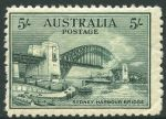 1932 5/- Green Sydney Harbour Bridge MUH and centered to left, with light crease in lower right corner.