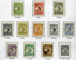 Collection of mostly used Kangaroo, KGV, Pre-Decimal and Decimal stamps from 1913 to 1978 including 1924 £1 Grey 3rd Wmk Kangaroo used, 1914 6d Claret Kooka MH, 1928 3d Kooka M/S MLH, 1932 5/- Green Sydney Harbour Bridge CTO, 1946 BCOF set MUH, 1963-64 Navigator set FU and 1971 Christmas Cream Paper block of 25 MUH in Seven Seas Hingeless album. Generally fine with odd fault.