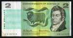 1966 $2.00 Coombs/Wilson Commonwealth of Australia Star replacement banknote gVG. No tears or pinholes. Serial no ZFB 38703*. McDonald 121s.