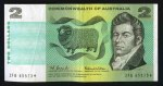 1966 $2.00 Coombs/Wilson Commonwealth of Australia Star replacement banknote F. No tears. Serial no ZFB 65573*. McDonald 121s.