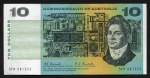 1967 $10.00 Coombs/Randall banknote VG (18). No tears or pinholes. McDonald 162.