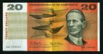 1966 $20.00 Coombs/Wilson banknote gF (14, 2 with last prefix XBP). No tears or pinholes. McDonald 181.