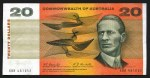 1967 $20.00 Coombs/Randall banknote VG/F (7). 5 with small tears and 2 with pin holes. McDonald 182.
