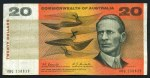 1967 $20.00 Coombs/Randall First Prefix XBQ banknote VG. No tears or pinholes. McDonald 182a.