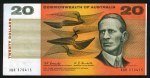 1967 $20.00 Coombs/Randall banknote aEF. Serial No XBR 570415. McDonald 182. Catalogue Value $1,400.00+
