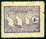 1911 'PAMABA' advertising label in violet, a few faults but sound. ['PAMABA' soap was promoted as good for Pa, Ma & Ba(by)]. Attractive and rare.