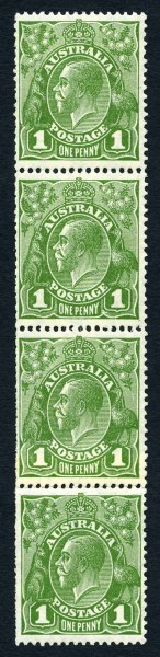 1926 1d Green Small Multiple Wmk perf 13½ KGV