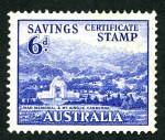 1940 6d Blue War Memorial unissued War Savings stamp MUH and well centered. Rare.