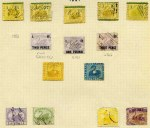Collection of 192 used and 38 mint Stamp Duty issues from 1881 to 1965 including a good range of values up to £10 (faults) with watermark, shade and perforation variations on album leaves. Usual variable condition and some duplication.