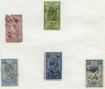 Collection of 218 used Stamp Duty issues from 1871 to 1950 including 1871 3d, 4d, 6d (3), 5/- (4), 10/- (2), £1 (4) and £5 Statute issues and 1879 £10 Mauve and £25 Green all fiscally used, plus £50 Violet CTO with Melbourne CDS cancel. Usual variable condition and some duplication.