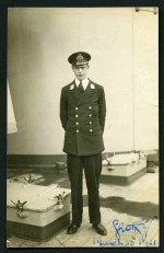 Photographic postcard of H.R. Highess (sic) Prince George. Midshipman, H.M.S.