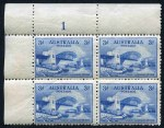 1932 3d Blue Sydney Harbour Bridge Plate No set of 4 corner blocks of 4 MUH. Plate No 2 and 4 with toning on top right units and lightly hinged in selvedge. Also Norfolk Island 1960 2/8 Local Government single and imprint pair MUH. Imprint pair lightly hinged in selvedge.
