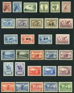 Collection of 104 different mint Pre-Decimal issues from 1914 to 1965, including 1914 6d Claret Kooka, 1931 6d Brown Airmail, 1931 6d Brown Airmail O/P OS, 1932 1/- Lyrebird, 1932 1/- Lyrebird O/P OS, 1934 1/- Perf 11½ Vic Centenary, 1934 Macarthur set, 1934 1/6 No Wmk Hermes, 1935 2/- Silver Jubilee, 1936 SA Centenary set, 1937 NSW Sesquicentenary set, 1946 5/- Thick Paper BCOF, 1948-49 Thin Paper Robe set, 1949-50 Arms set and 1963-64 Navigators set of 6. Generally fine MLH condition with odd minor fault. High retail value.