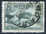 1932 5/- Green Sydney Harbour Bridge good commercially used and reasonably well centered. Small tear and thin at top.