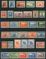 Collection of 98 different MUH Pre-Decimal issues from 1914 to 1965, including 1914 6d Claret Kooka, 1929 3d Airmail Type A perf OS, 1932 1/- Lyrebird, 1934 1/- Perf 11½ Vic Centenary, 1934 Macarthur set, 1934 1/6 No Wmk Hermes, 1935 Anzac set, 1935 Silver Jubilee set, 1936 SA Centenary set, 1937 NSW Sesquicentenary set, 1938 Thick Paper Robe, 1940 AIF set, 1950 £2 Arms, 1961-64 5/- Cream and White Paper Cattle and 1964 £2 Navigator. Odd minor fault. High retail value.