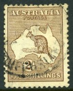 1916 2/- Brown 3rd Wmk Kangaroo with
