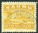 1924-48 Ships set of 14 VFU. 10/- superb well centered rough paper copy.
