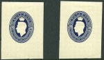 1946 5/10 Blue KGVI Food Parcel Label cut-out with wide margins MLH. (4).