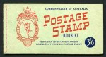 1953-56 3½d Carmine-Red Wmk QEII Wax interleaving booklet and No Wmk Wax interleaving stitched booklet MUH. No Wmk Wax interleaving booklet only listed as stapled covers with stitch holes. (5 of each). ACSC B57v and B58v. Retail $950.00.