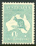 1920 1/- Emerald Die IIB 3rd Wmk Kangaroo with
