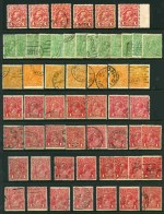 Accumulation of hundreds of used KGV issues, including watermark and perf variations, some varieties and shade variations. Noted 4d Lemon (6), 4d Blue Thin