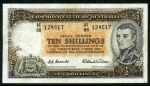 1954 10/- Coombs/Wilson Commonwealth Bank QEII banknote VF. McDonald 24. Catalogue Value $ 125.00.
