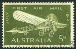 1964 5d Sage-Green Airmail with Re-entry to second