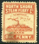 North Shore Steam Ferry Co. Ltd, 2 different 1d Pink perforated tickets in very good condition. The North Shore Steam Ferry company operated between 1878 and 1899. Scarce in such fine condition.