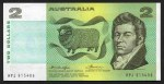 1976 $2.00 Knight/Wheeler Gothic serial number centre thread Banknote run of 4 aUnc. McDonald 126. Catalogue Value $480.00.