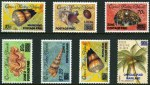 1990-91 Provisional overprints set of 7 MUH, including 90¢ Coconut Official CTO with gum. Retail $295.00.