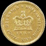 1802 Gold First type Third-Guinea good F.