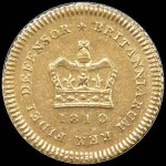 1810 Gold Second type Third-Guinea EF.