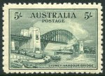 1932 5/- Green Sydney Harbour Bridge MUH and reasonably centered.
