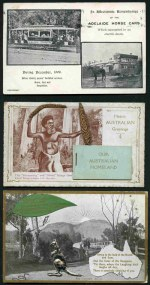 Selection of 19 early postcards including Aboriginal novelty card with